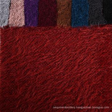 Top quality 100% poly herringbone popcorn knit shirt popcorn fabric