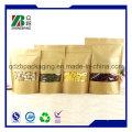 Fabricant de la Chine Stand up Ziplock Sac en papier Kraft pour l'emballage du thé au café