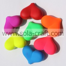 9*17*23MM Neon Rubber Colors Zhejiang Heart Spacer Beads Wholesale