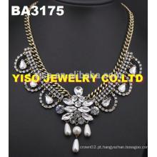 Colar de strass jóia de moda