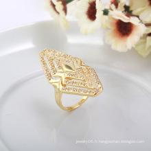 Mode populaire plaqué or Specail Shape Diamond Jewelry Ring en Nickel gratuit pour les femmes 10263