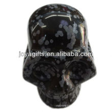 """Pedra preciosa de Snowflak esculpida crânio 2 """"crânio gemstone natural"""