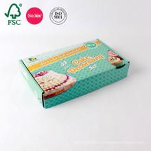 Boîte en carton ondulée pliable faite sur commande simple faite sur commande de carton d'impression
