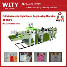 QF-450*2 fully automatic ultra-high speed biodegradable plastic bag machine