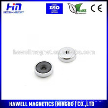 ferrite magnet pot with through hole