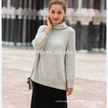 woman's cashmere colorful neps sweater