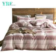 Hospital Cotton Fabric Bedding Modern Design Hot Selling Comfortable Pink Plaid