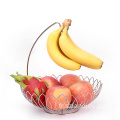 Factory Direct Sales Of The Most Popular Large Stainless Steel Wire Fruit Single Basket With Banana Stand