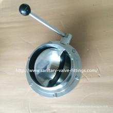 Санитарный 6-дюймовый из нержавеющей стали клапан-бабочка, большой размер 3A клапан-бабочка