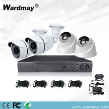 Kit AHD Surveillance Alarm 4ch 2.0MP Keamanan CCTV