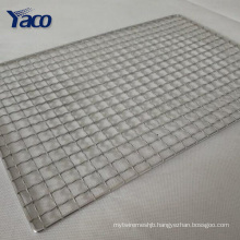 Stainless barbecue grill wire netting crimped wire mesh bbq grill