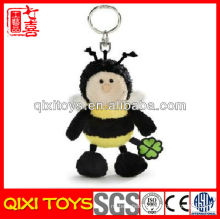 Qixi toys professional design bee keyring