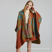 New arrival warm ethnic wind scarf jacquard pashmina shawls for women winter