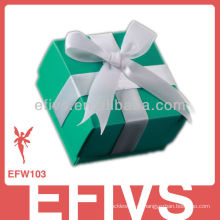 Venda quente elegante Bowknot Green Wedding Favor Caixa Fornecedor