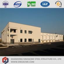 Taller de mantenimiento de vehículos de estructura de acero