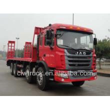 JAC 30tons pesado camión plano, 8x4 camión cama plana