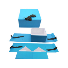 Flat Packed Printing Paper Box Folding Foldable Folded Magnetic Cardboard Packaging Gift Box
