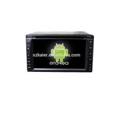 Quad core! DVD de coche con enlace espejo / DVR / TPMS / OBD2 para pantalla táctil de 6,2 pulgadas quad core 4.4 Sistema Android Universal 2