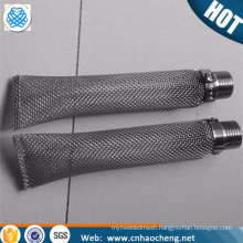 Factory price 16 mesh 0.45mm stainless steel brewing bazooka kettle tube filter screen
