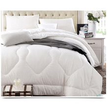 100% Polyester White Bed Quilt for Home and Hotel F1825