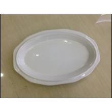 Articles en stock dans la plaque ovale en grès 11.75 pouces (JSD-STK11.75)