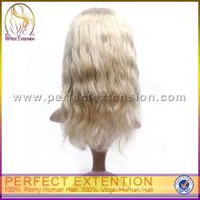 Mongolian Virgin Tangle Free Short Thin Hairline Human Cheap Long Blonde Wig