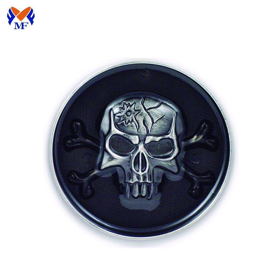 Zinc Alloy Skull Buckle