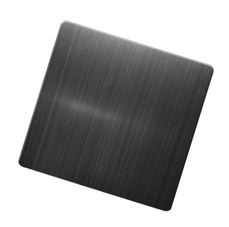 stainless steel black coated HL plate