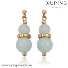 91219 xuping wholesale new designed gold plated stud earrings