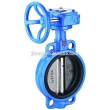 1502 Cast Iron wafer worm Gear Butterfly valves