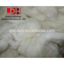 Fibra de desperdicio de lana china blanca
