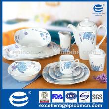 45pcs square hotel&restaurant ceramic ware Avon audited factory wholesale