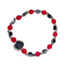 Plastik-religiöses Rosenkranz-Armband mit Hämatit-Perlen