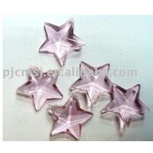 2015 горячая распродажа дешевые кристалл орнамент для украшения ,стеклянная форма орнамент звезда