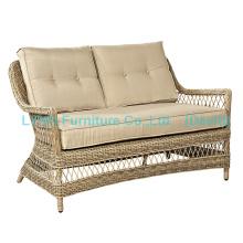 Garden Furniture Wicker Love Seat Circle Rattan Sofa