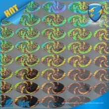 Kundenspezifischer Entwurfslaserdruck holographischer Aufkleber starker haftender Hologrammaufkleber