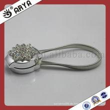 Silvery Vorhang Magnetische Clip Gürtelschnalle Mit Diamanten Clip Haken