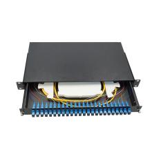 Wanbao good quality and price 19'' 1U ODF 24 Port SC fiber optic patch panel distribution box
