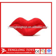 Grandes labios rojos sexy relleno almohada almohada almohada labios en forma de juguete de felpa para el Día de San Valentín