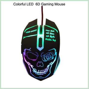10% скидка Cool Design Colorful 6D LED Проводная оптическая игровая мышь (M-65)