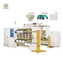 Machine de rebobinage automatique de refendage de film BOPP / PET / PVC