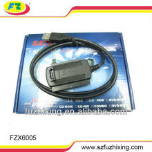 USB2.0 a 2.5 / 3.5 SATA y cable del convertidor del IDE