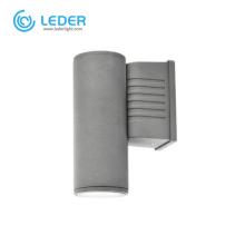 LEDER Square Dark Grey 5W Outdoor Wall Light