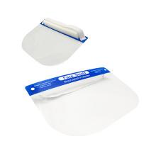 Visor de plástico de proteção para adultos e escudo facial completo