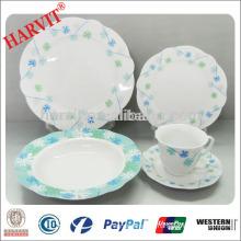 Wholesale 47pcs Procelain Round Dinnerware/Italian Ceramic Dinnerware/Latest Dinner Set with Popular Design