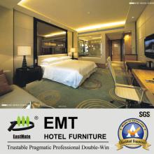 2016 Cabecero de cristal moderno y muebles modernos del dormitorio del hotel de diseño (EMT-A1203)
