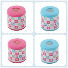 Round Bicolor Fashion Plastic Tissue Box (FF-5011)
