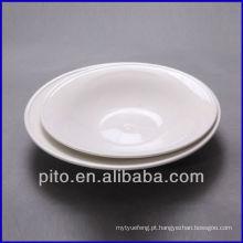 P & T de porcelana redonda prato placa de massa placa de salada