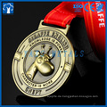 Neuer Entwurf kundenspezifische Karikatur Arts sports award weiche Emaille-Goldmetallmedaille