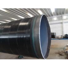 Outside 3PE Inside Fbe Coated Large Diameter Water Steel Pipe